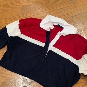 Tommy Hilfiger Tops - cropped tommy hilfiger striped sweater ✧
